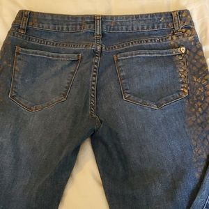 Andrew Charles Copper Animal Stamped Jeans